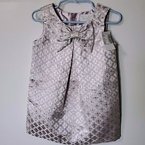 CHILDREN PLACE metallic dress  SIZE 2T